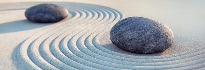 Steine und Sand