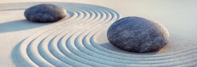 Weg, Steine und Sand